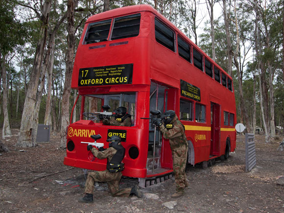 Delta Force Paintball Appin Sydney London Bus