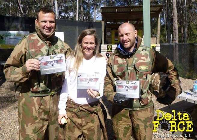 Aussie Men's Rugby 7's team in Delta Force Paintball - Appin